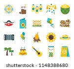 set of 20 icons such as snack ...