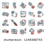 set of 20 icons such as car...   Shutterstock .eps vector #1148388743
