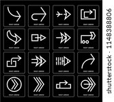 set of 16 icons such as right...