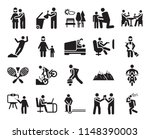 set of 20 icons such as... | Shutterstock .eps vector #1148390003