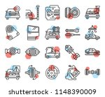 set of 20 icons such as tire ...   Shutterstock .eps vector #1148390009