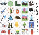 set of 25 icons such as canteen ...