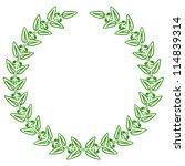 illustration of green laurels | Shutterstock . vector #114839314