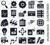 set of 25 icons such as edit ...