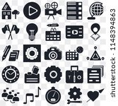 set of 25 icons such as like ...