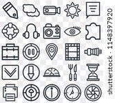 set of 25 icons such as shutter ...