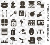 set of 25 icons such as mixer ...
