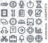 set of 25 icons such as upload  ...