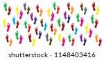 footprints human shoes shoe... | Shutterstock .eps vector #1148403416