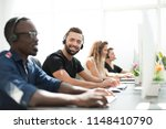 employees of the business... | Shutterstock . vector #1148410790