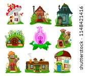fantasy house vector cartoon... | Shutterstock .eps vector #1148421416
