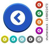 chevron left round color... | Shutterstock .eps vector #1148421473