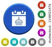 birthday round color beveled... | Shutterstock .eps vector #1148421476