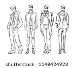 fashion man. set of fashiona... | Shutterstock .eps vector #1148424923