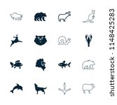 wildlife icon. collection of 16 ... | Shutterstock .eps vector #1148425283