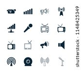 broadcast icon. collection of... | Shutterstock .eps vector #1148425349