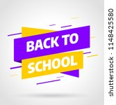 back to school sale banner... | Shutterstock .eps vector #1148425580