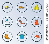 garment icons colored line set... | Shutterstock .eps vector #1148428730