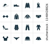 clothes icons set with male... | Shutterstock . vector #1148428826