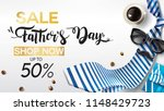 happy father's day  sale... | Shutterstock .eps vector #1148429723