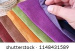 set of fabric samples. clothing ... | Shutterstock . vector #1148431589