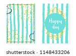 bridal shower set with dots and ... | Shutterstock .eps vector #1148433206