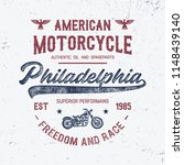 american motorcycle typography. ... | Shutterstock .eps vector #1148439140