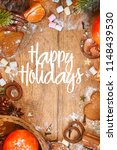 christmas and new year holidays ... | Shutterstock . vector #1148439530