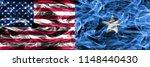 united states vs somalia smoke... | Shutterstock . vector #1148440430
