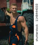 strength concept. worker pull...   Shutterstock . vector #1148444033