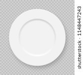realistic white plate dish... | Shutterstock .eps vector #1148447243