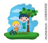 nice children boys in the... | Shutterstock .eps vector #1148453450