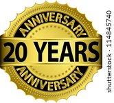 20 years anniversary golden... | Shutterstock .eps vector #114845740