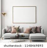 Living Room Interior Wall Mock...