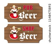 vector set of two signboards to ... | Shutterstock .eps vector #1148475893