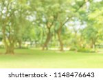 abstract blur lawn green trees... | Shutterstock . vector #1148476643