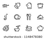 set of black vector icons ... | Shutterstock .eps vector #1148478380