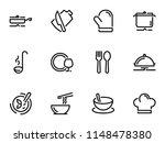 set of black vector stroke ... | Shutterstock .eps vector #1148478380