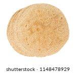 whole grain tortilla isolated | Shutterstock . vector #1148478929