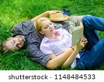romantic couple students enjoy... | Shutterstock . vector #1148484533