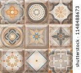 Small photo of Mandala Mosaic, Mandala Mosaic, beige rustic mosaic, Floor tiles decor