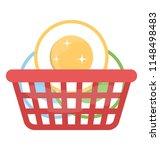 basket having cleaned... | Shutterstock .eps vector #1148498483