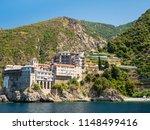 monastery buildings on mount... | Shutterstock . vector #1148499416