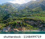 monastery buildings on mount... | Shutterstock . vector #1148499719