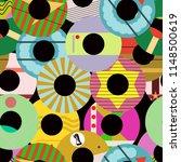 seamless retro vinyl record... | Shutterstock .eps vector #1148500619
