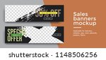 set of two sale banner with... | Shutterstock .eps vector #1148506256