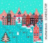 unusual christmas illustration... | Shutterstock . vector #1148512739