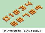 3d 8 bit isometric numbers | Shutterstock .eps vector #1148515826