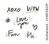 vector hand written text...   Shutterstock .eps vector #1148518229