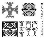 set of celtic square knot ... | Shutterstock .eps vector #1148519900